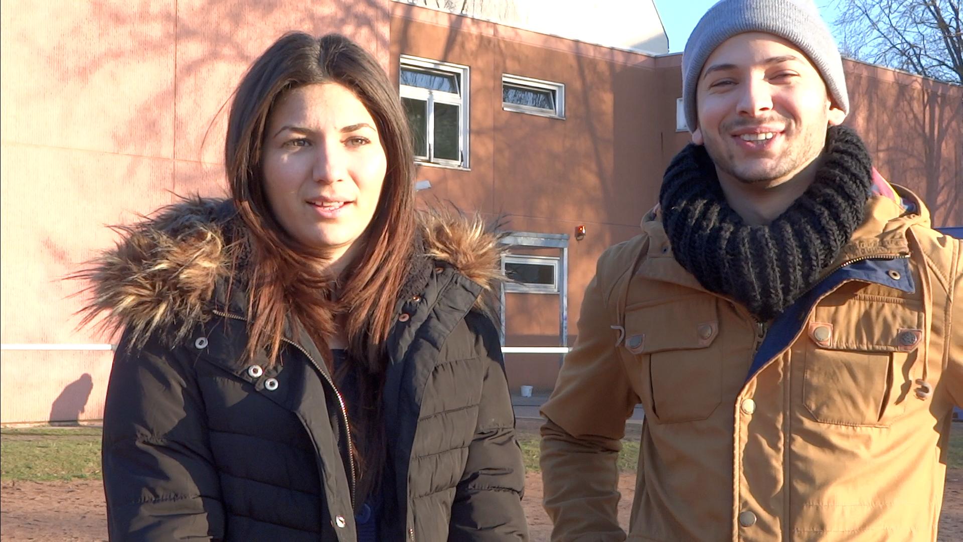 Denisa und Denis während des Filmworkshops am Mariendorfer Weg im Frühjahr 2015.