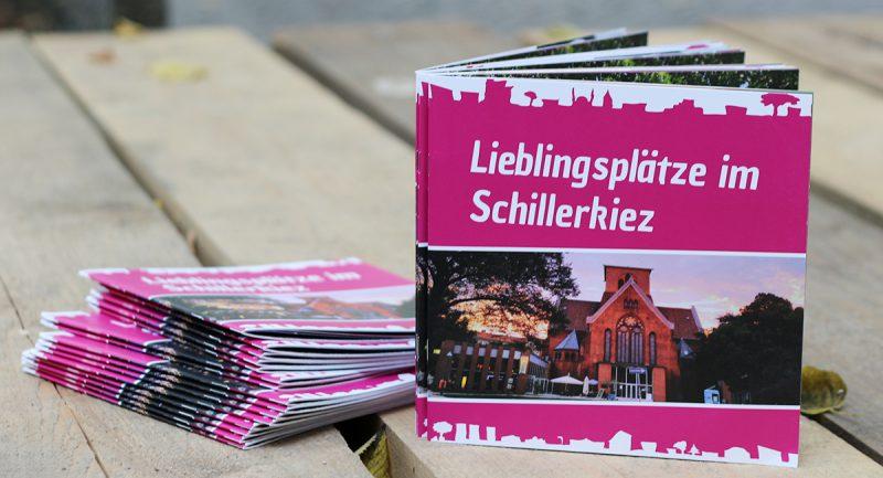 Das Cover der Broschüre ziert eines der bekanntesten Wahrzeichen des Schillerkiezes: die Genezarethkirche. (Bild: Anke Hohmeister)